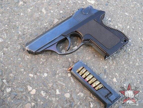 Пистолет ПСМ - самозарядный малогабаритный 5,45 мм.