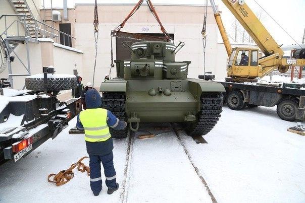 На Урале воссоздали уникальный пятибашенный танк Т-35. На Урале воссоздали уникальный 3