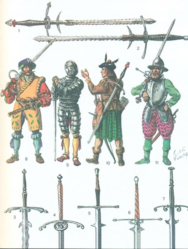 Стратегическое оружие Средневековья - катана и клеймор. спадон