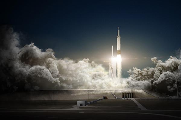 Американская ракета Falcon Heavy все еще пытается взлететь. 1