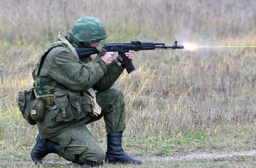 Стрельба из АК-74.Советы военных
