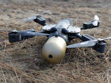 Польский ударный квадрокоптер-камикадзе. Видео