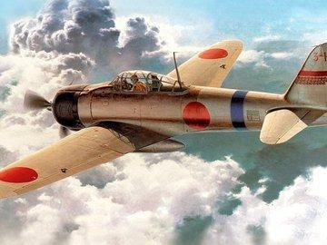 Как падали японские истребители во вторую мировую. Видео