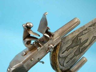 Кинжал катар с кремневыми пистолетами