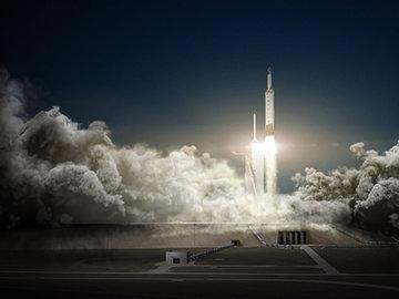 Американская ракета Falcon Heavy все еще пытается взлететь