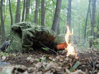 Разведение и маскировка костра по методике спецназа СССР
