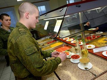Чем кормят солдат у нас и у них
